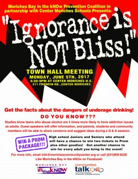 """""""Ignorance is NOT Bliss"""" Town Hall @ Center Moriches High School 
