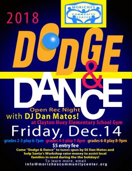Dodge & Dance Open Rec Night - Grades 2-3 @ Clayton Huey Elementary School   Center Moriches   New York   United States