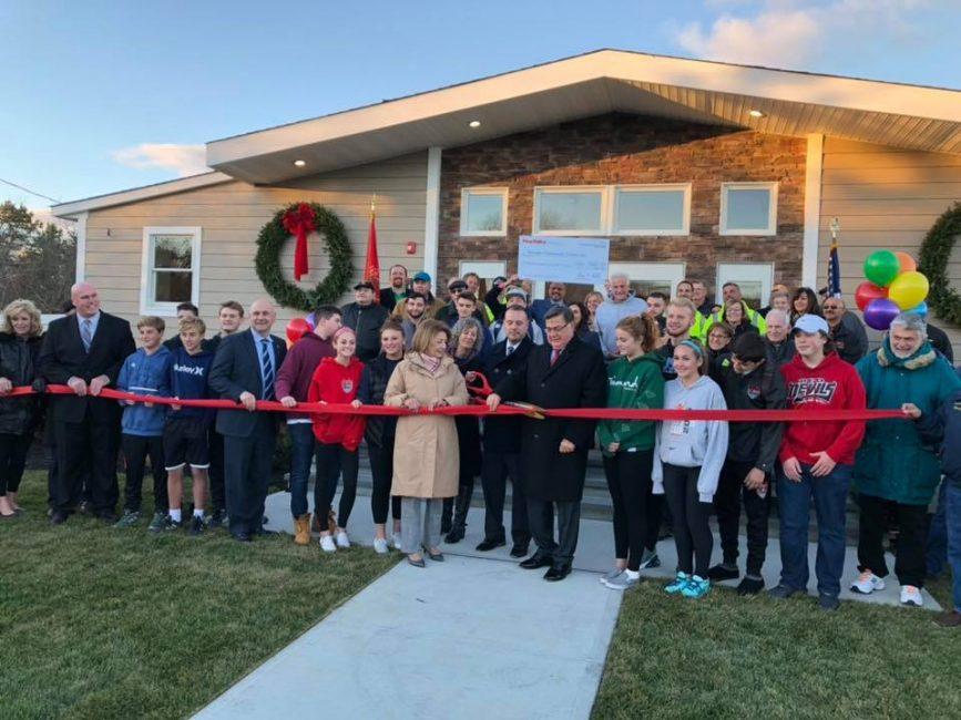 Moriches Community Center ribbon cutting