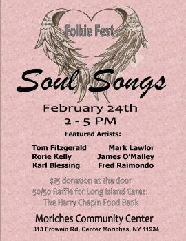 Folkie Fest Soul Songs @ Moriches Community Center | Center Moriches | New York | United States
