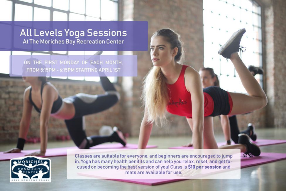 All Levels Yoga Session @ Moriches Bay Recreation Center | Center Moriches | New York | United States