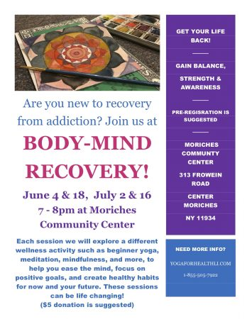 Body Mind Recovery @ Moriches Community Center | Center Moriches | New York | United States