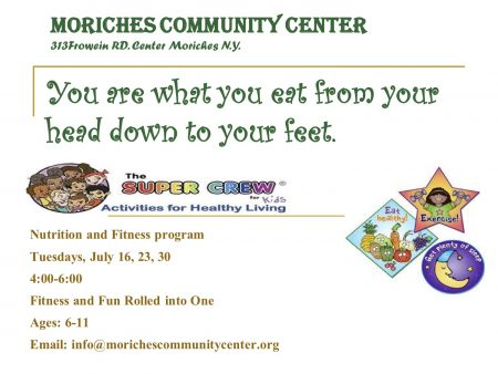 Kids Nutrition & Fitness Fun @ Moriches Community Center | Center Moriches | New York | United States
