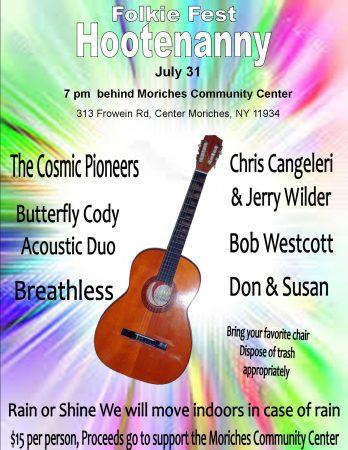 Folkie Fest Hootenanny! Rain or Shine @ Moriches Community Center | Center Moriches | New York | United States