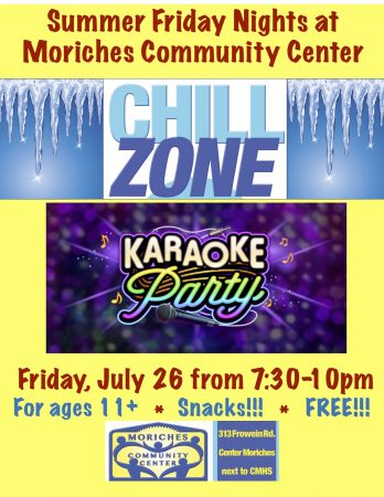 "Karaoke Party at MCC ""Chill Zone"" @ Moriches Community Center 