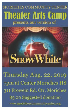 "Theater Arts Camp show ""Snow White"" @ Center Moriches High School Auditorium 