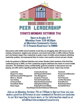 Peer Leadership @ Moriches Community Center | Center Moriches | New York | United States