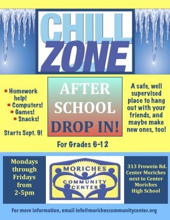 Chill Zone After School Drop In @ Moriches Community Center | Center Moriches | New York | United States